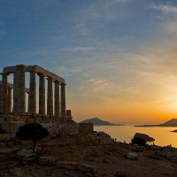 CAPE SOUNION IN THE AFTERNOON
